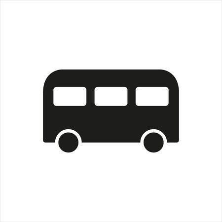 Bus icon. School auto isolated on background. Modern simple flat sign. Logo illustration. Stock Illustratie