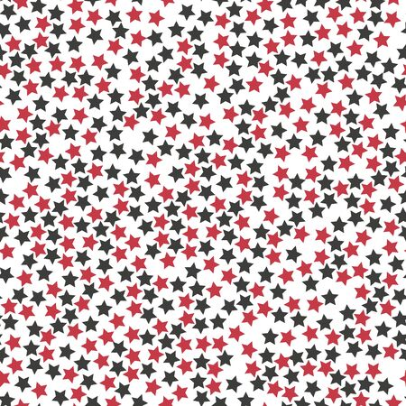 Stars in different shapes and forms. Merry Christmas and New Year seamless vector pattern. Colorful background for Xmas.EPS 10