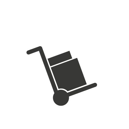 Handcart isolated minimal single flat linear icon for application and info-graphic. Delivery line vector icon for websites and mobile minimalistic flat design.