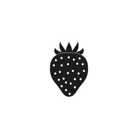 Strawberry colorful logo. Strawberry cartoon style symbol. Isolated on a white background. Ilustração