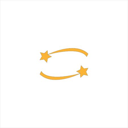 Shooting star. Flat web icon or sign isolated on grey background. Collection modern trend concept design style vector illustration symbol.EPS 10 Ilustração