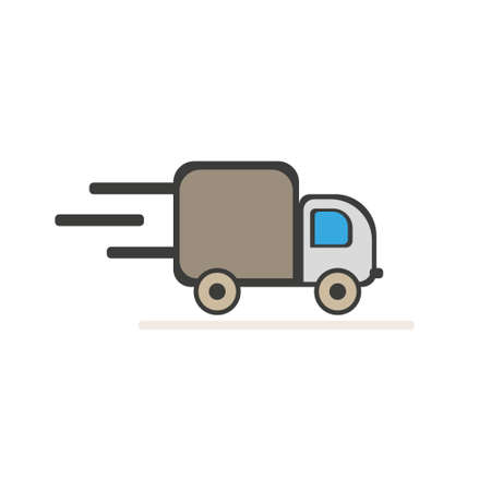 Fast delivery Truck icon on white background. Vector illustration.EPS 10