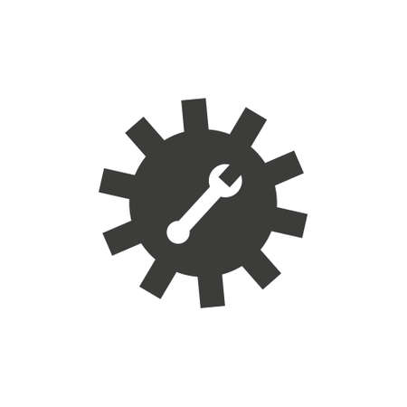 Wrench Icon in trendy flat style isolated on grey background. Spanner symbol Ilustração
