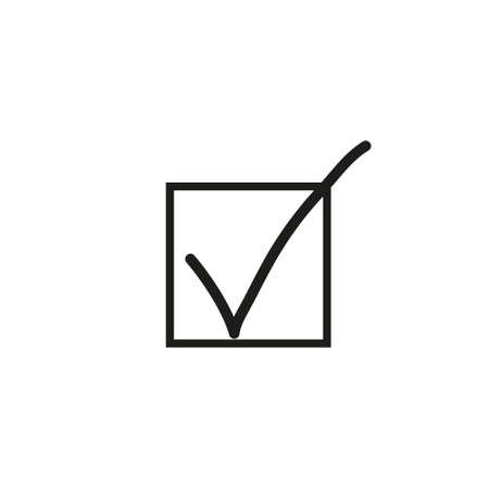 Check list button icon. Check mark in box sign. Ilustração