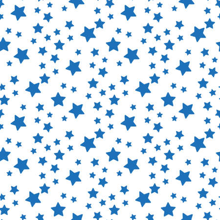 blue on white background star vector seamless pattern