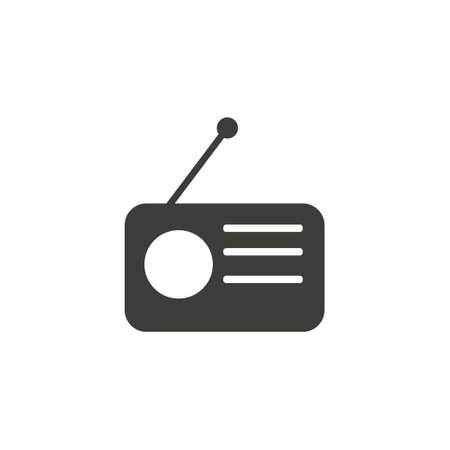 Radio icon vector, Old retro Receiver waves, tuner sign Isolated on white background. Trendy Flat style for graphic design, logo, Web site, social media, UI, mobile app,