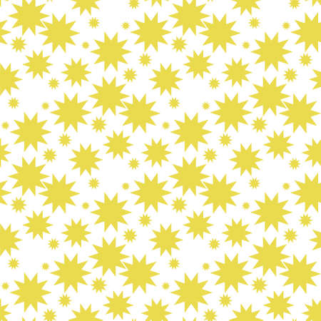 Nucleate explosion pattern seamless vector repeat geometric yellow for any design Ilustração