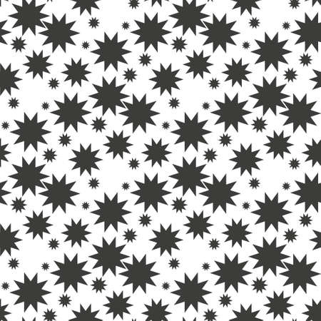 Nucleate explosion pattern repeat seamless in black color for any design. Vector geometric illustration Ilustração