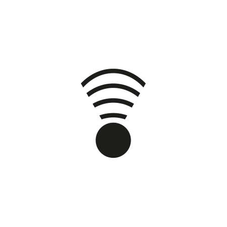 Wireless and wifi icon or sign for remote internet access. Podcast vector symbol. Ilustração