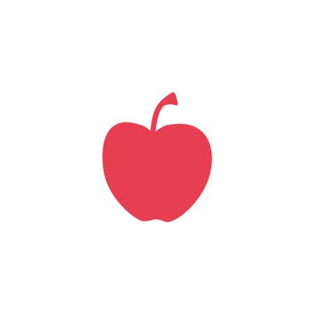 Red apple vector illustration on white background
