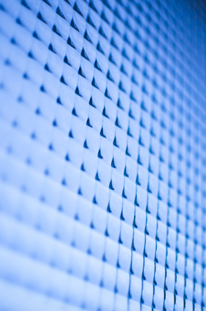silicium: Blue abstract surface in perspective Stock Photo
