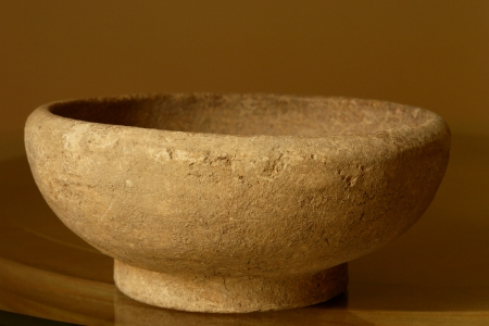 descendants: Antique Vase made by mayan descendants from Yucatan Stock Photo