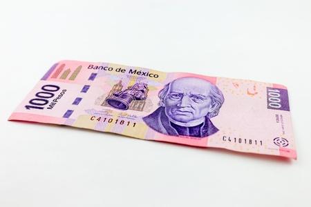 新千メキシコペソ法案のストック フォト。