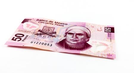 新しい 50 メキシコ ペソ法案のストック フォト。 写真素材