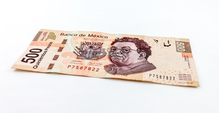 新しい 500 メキシコ ペソ法案のストック フォト。 写真素材