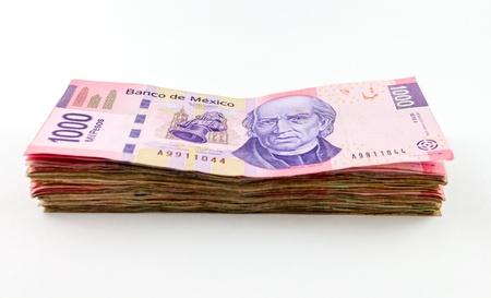 pile papier: Une image montrant la nouvelle loi de 1000 pesos.