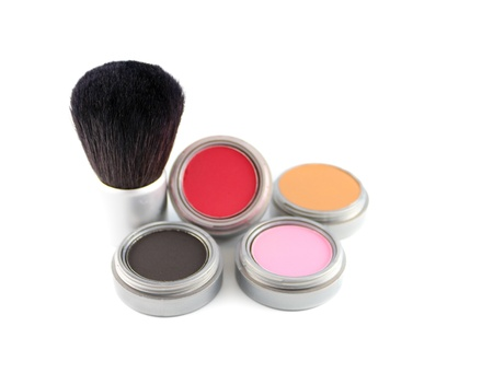 applicator: A blush brush and four different colors of blush.