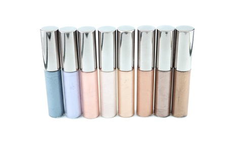 gloss: Lip gloss in various range of colors Stock Photo