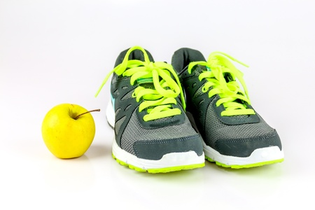sneakers: Let s get healthy  Stock Photo