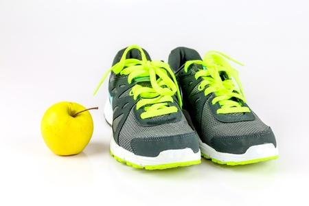 スニーカー: S の健康を得ることができます。 写真素材