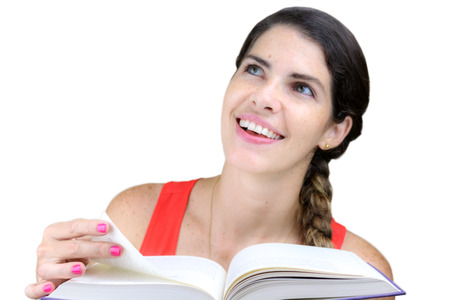 knew: Close up shot of a smiling, young woman looking at her teacher