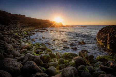 beach and sunset landscape photography long exposure Фото со стока