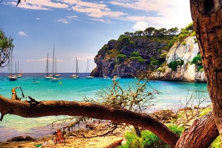 menorca: Beach on the island of Menorca, Spain