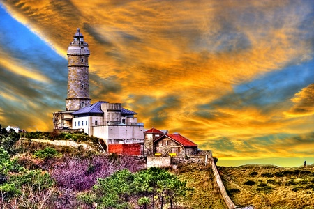 Santander Lighthouse at sunset Stock Photo - 12042949