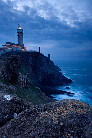 santander: Mayor of Cape Lighthouse Stock Photo