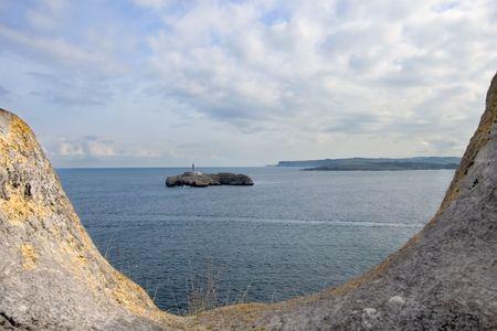 santander: Island of Santander Stock Photo