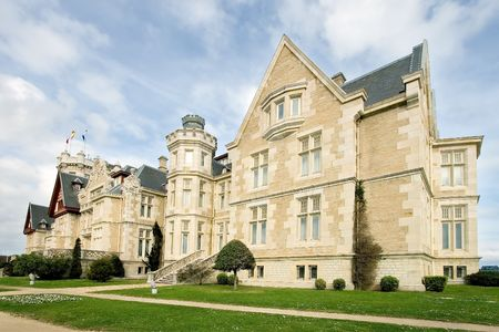 santander: Palace of the Magdalena in Santander, Cantabria (Spain) Stock Photo