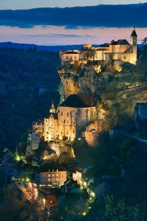 Getting dark in the village of Rocamadour