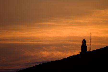 dawns: Beacon of the end Matxitxako dawning, Bizkaia (Spain)
