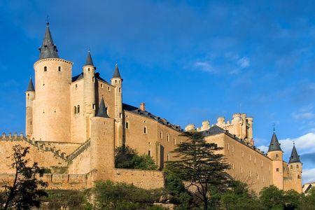 impregnable: Alcazar of Segovia (Spain) Stock Photo