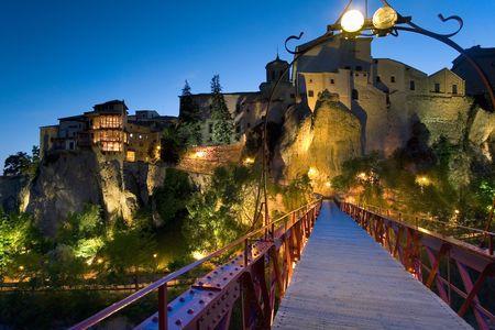 cuenca: Dusk in the city of Cuenca (Spain)