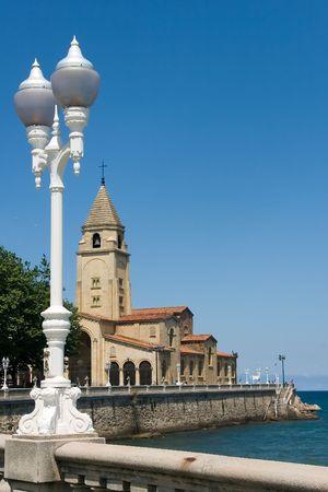 clergy: San Pedros church in Gij�n, Asturias (Spain) Stock Photo