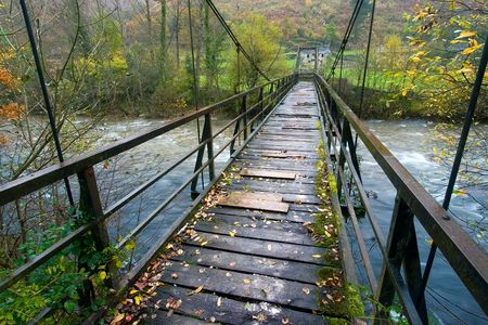 cantabria: Bridge in the Gurueba in Cantabria (Spain) Stock Photo