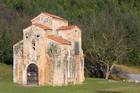 san miguel arcangel: San Miguel de Lillo, Asturias (Espa�a) Foto de archivo