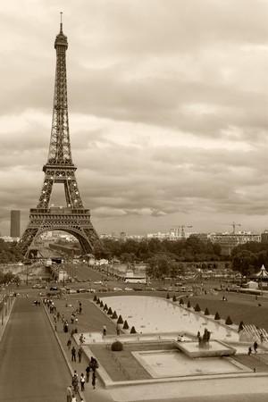 trocadero: Trocadero gardens, Paris (France) Stock Photo