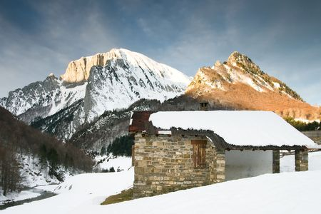 huesca: Mountains of Zuriza, Huesca (Spain) Stock Photo