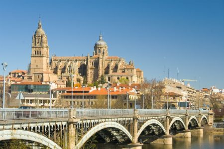 castilla: View of Salamanca, Castilla y Leon (Spain)
