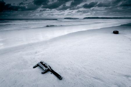 cantabria: Deserted beach, Pedre�a, Cantabria (Spain)