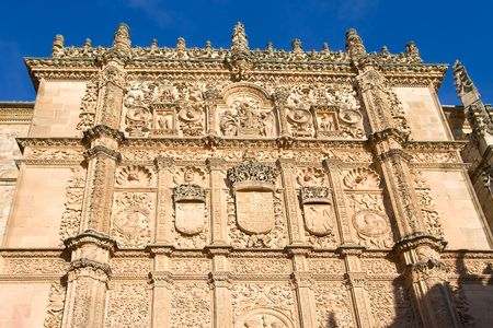 castilla: Facade of the university of Salamanca, Castilla y Leon (Spain)