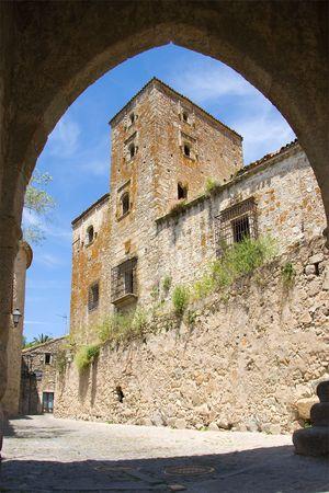 extremadura: Tower of Trujillo, Caceres, Extremadura (Spain) Stock Photo