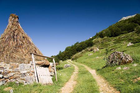 picos: Hut in the National Park of Picos de Europa, Leon, Castilla y Leon (Spain) Stock Photo
