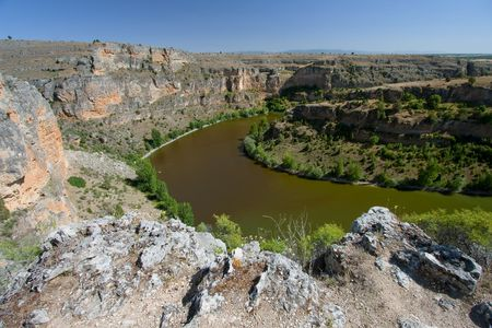 segovia: Canyon in the Hoces del Duraton, Segovia (Spain)