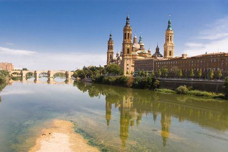 ebro: Riflettere del Pilar, Saragozza (Spagna)