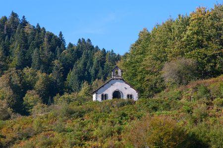 navarra: Ermitage of Irati, Navarra (Spain) Stock Photo