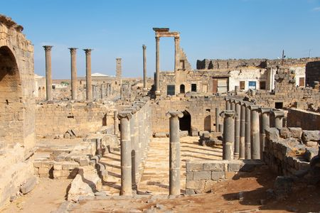middle joint: City of Bosra, Siria Stock Photo