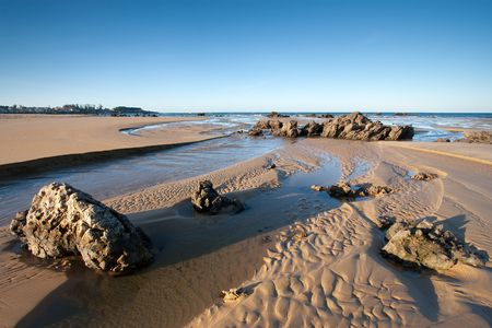 cantabria: Beach of Trengandin in Noja, Cantabria (Spain)